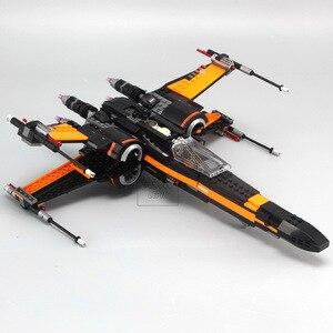 Image 2 - Звездные войны 75149 75218 блоки первый заказ Poe X wing Fighter модель строительные блоки Звездные войны кирпичи игрушки подарок детям