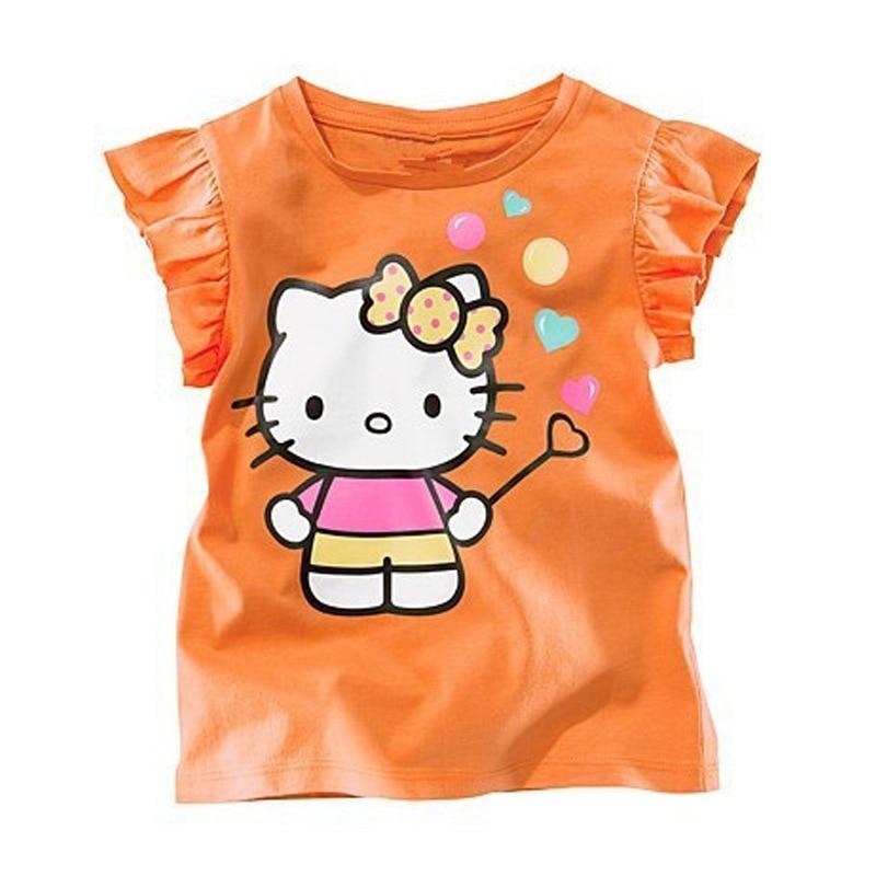 2-5TChildren Tshirt sleeveless children clothing cartoon hot selling brand children clothes cute casual kids tops tees