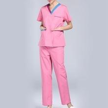 Scrubs Medical Uniforms Women Short Sleeve Nurse Uniform Sets Breathable Hospital Surgical Clothing