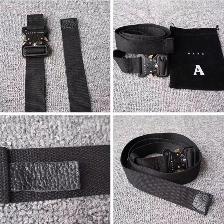 ALYX Belt Rollercoaster Metal Button Canvas Fashion Street Wear Safety ALYX Belt
