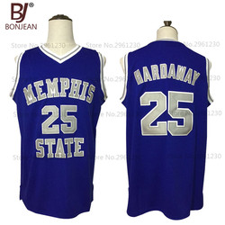 Cheap Throwback Basketball Jersey Penny Anfernee Hardaway 25 Memphis State College Basketball Jersey Blue Stitched Retro Shirts