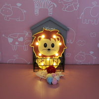 DELICORE INS Cute Lion Shaped Led Night Lights Animal Marquee Lamps On Wall For Kids Children Party Bedroom Decor Gifts JH L055