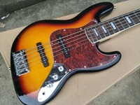 Jazz 5Strings Bass Guitar with Rosewood Fingerboard, Red Tortoise Shell Pickguard,Rosewood Fingerboard,Offer Customized
