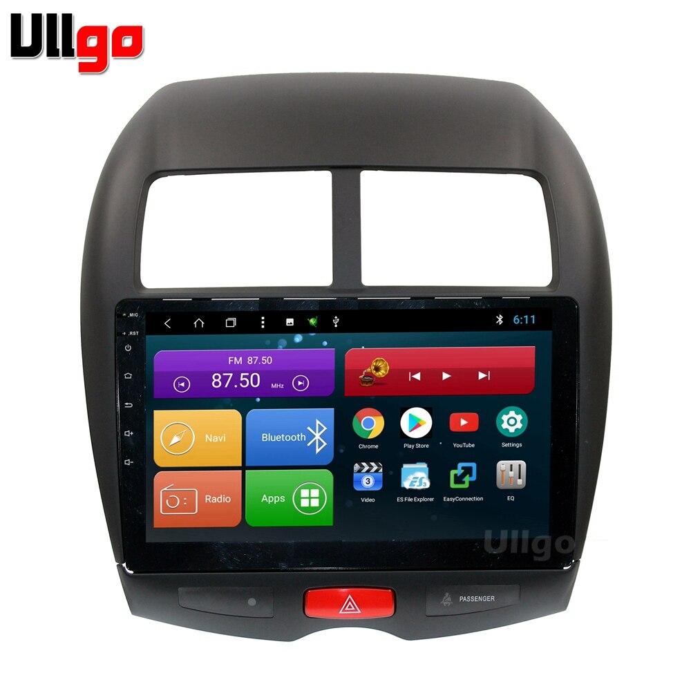 10.1 pouce Octa base Android 8.1 Voiture DVD GPS pour Mitsubishi ASX Peugeot 4008 Citroen C4 Aircross Autoradio GPS De Voiture tête Unité Navi