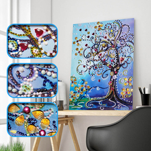 Diamond Embroidery Flower Tree Special Shape Painting Rhinestone Love Heart DIY Crystal