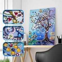Diamond Embroidery Flower Tree Special Shape Painting Rhinestone Love Heart DIY Crystal