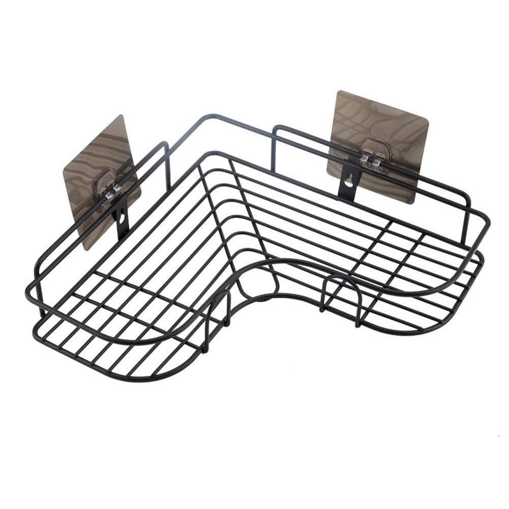 Клей настенный Ванная комната стеллаж для хранения полотенца шампунь угловая полка крючки держатель кухонная корзинка для хранения