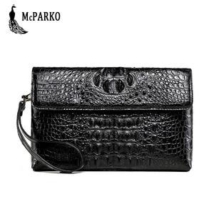 Image 1 - Luksusowy skórzany portfel kopertówka mężczyźni prawdziwy krokodyl cltuch torba dla mężczyzn prawdziwy portfel skóry aligatora z nadgarstkiem moda torba męska