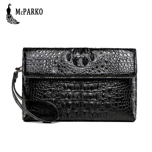 Luksusowy skórzany portfel kopertówka mężczyźni prawdziwy krokodyl cltuch torba dla mężczyzn prawdziwy portfel skóry aligatora z nadgarstkiem moda torba męska