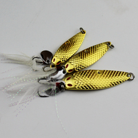 1 Piece 10 15 20g High Quality Metal Spinner Spoon Fishing Lure Hard Baits Sequins Paillette