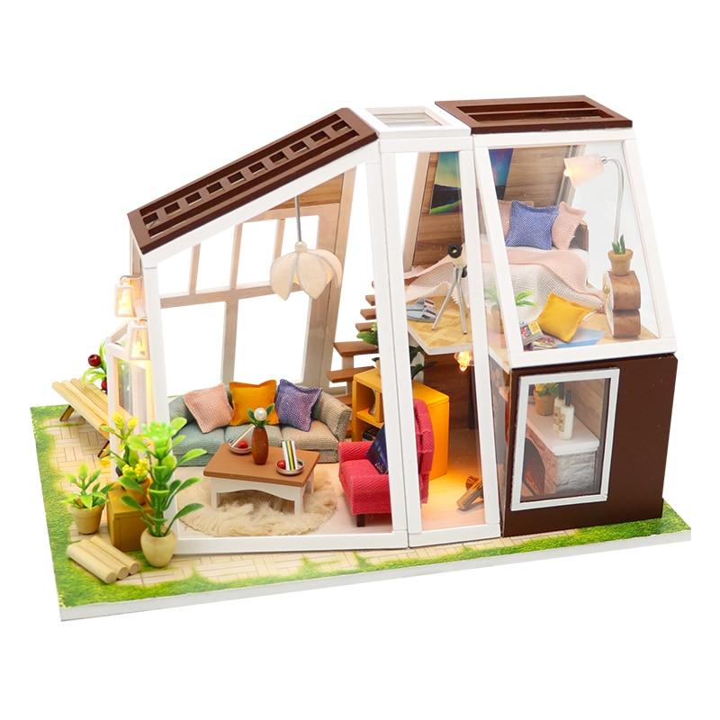 Cutebee Casa Doll House Furniture Miniature Dollhouse DIY Miniature House Room Box Theatre Toys For Children DIY Dollhouse M902