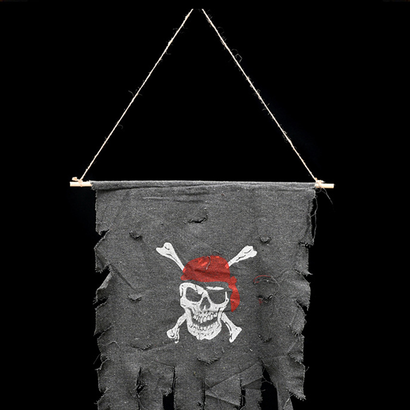 Halloween party diy decoration hanging flag party ornaments pirate ghost skull skeleton flag halloween paty house wall adornment in party diy decorations