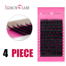 Charming Lashes 4 pcs 0.15 J/B/C/D Curl Mink Eyelash Extension Thin and Soft Material 3d 6d Voluming lashes Tray Lash