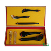 High quality! Wholesale & retail 100% ox horn massage guasha plate beauty face Scrapping kit