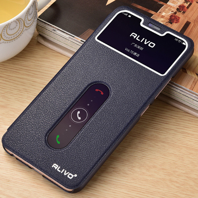 detailed look 0d010 bbcd6 US $4.47 5% OFF|Phone Case For Vivo Y81 Y 81 VivoY81 6.22 inch View Window  Flip Stand PC Cover For Vivo Y81 Case Answer PU Leather Para Fashion-in ...