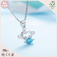 Top Quality New Arrival Very Cute Animal Design 925 Sterling Silver Lovely Monkey Pendant Necklace