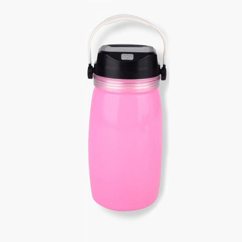 Купить с кэшбэком Portable Lanterns Solar charging bottle water cup lamp LED outdoor food-grade silicone lamp camping lamp charging tent lamp