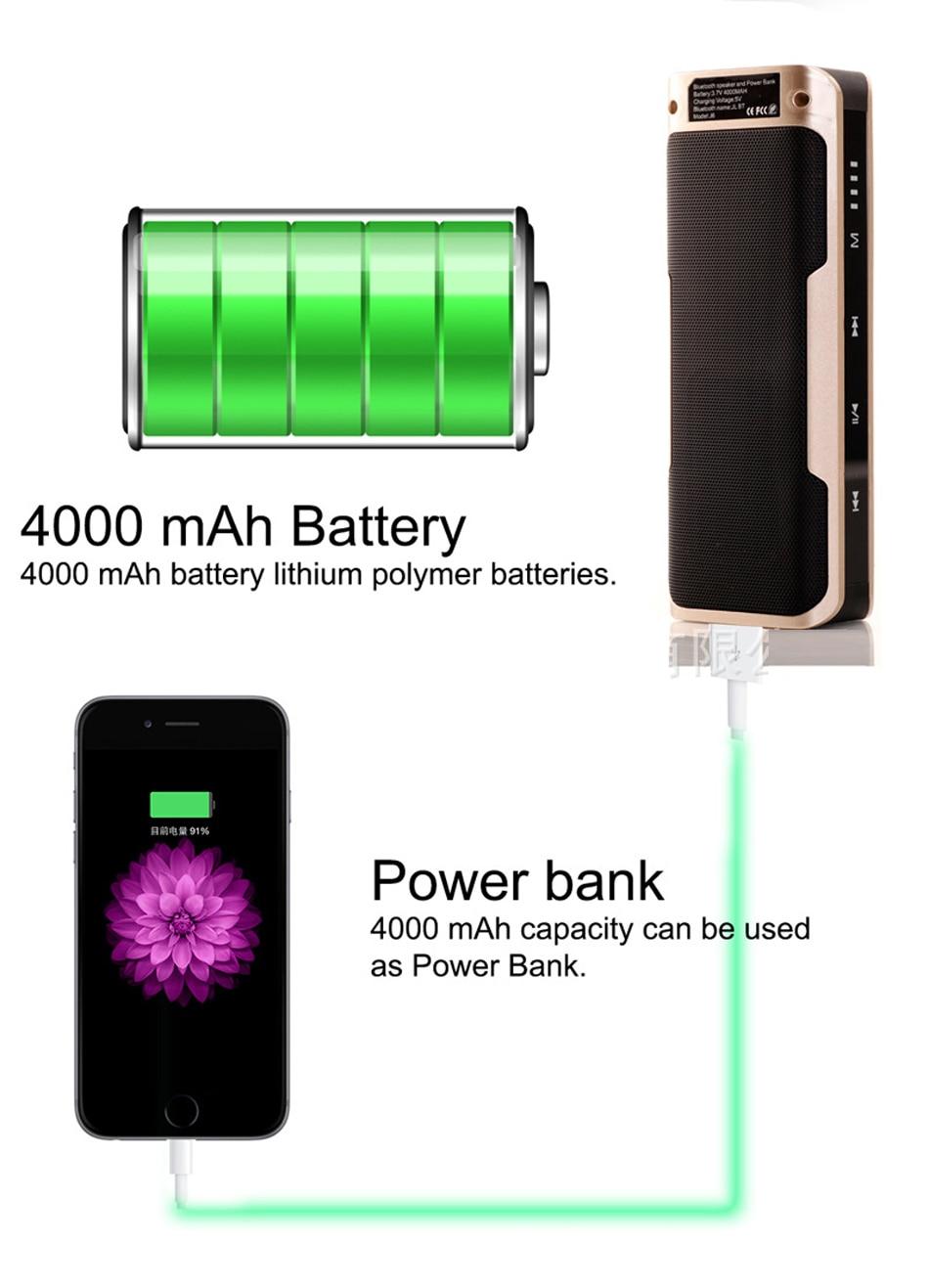 Zuczug Banco de potencia de altavoz Bluetooth portátil impermeable - Audio y video portátil - foto 6
