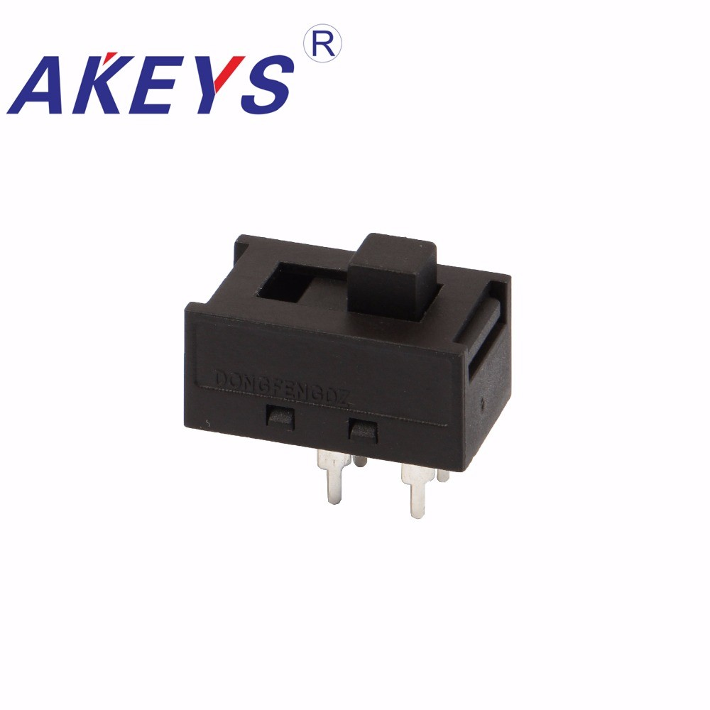 10PCS SS-22N02 High current toggle switch DIP 2 position 6 pin 230V-115V 2P2T slide SS-22N06