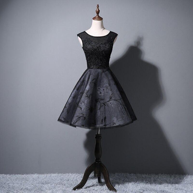 Lace Bridesmaid Dresses Short  New Designer Black Wedding Party Formal Junior Women Ladies Dress