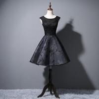 Lace Bridesmaid Dresses Short 2018 New Designer Black Wedding Party Formal Junior Women Ladies Dress