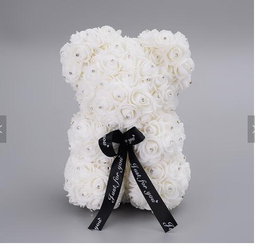 Image 5 - 2020 Diamond rose bear with heart artificial roses foam roses flower Diamonds  bear rose Valentine's Day gifts Mother's Day-in Artificial & Dried Flowers from Home & Garden