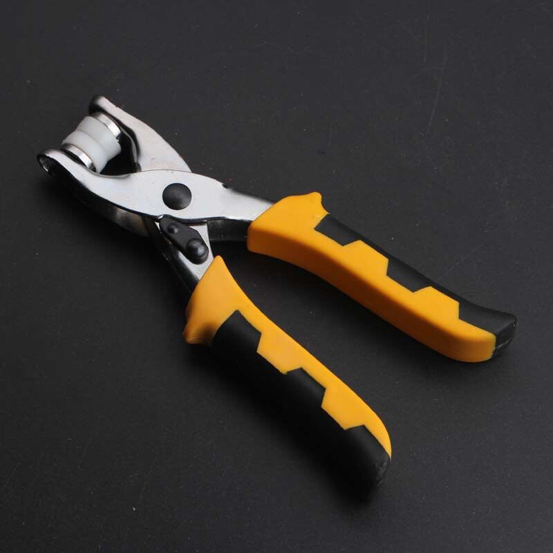 3in1 Card Leather Belt Hole Punch Eyelet Plier Snap Button Setter Tools Kit
