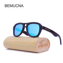2017 New BEMUCNA Polarized Wood Sunglasses Men Brand Designer Fashion Protect Sun Glasses With Accessories Box gafas de sol