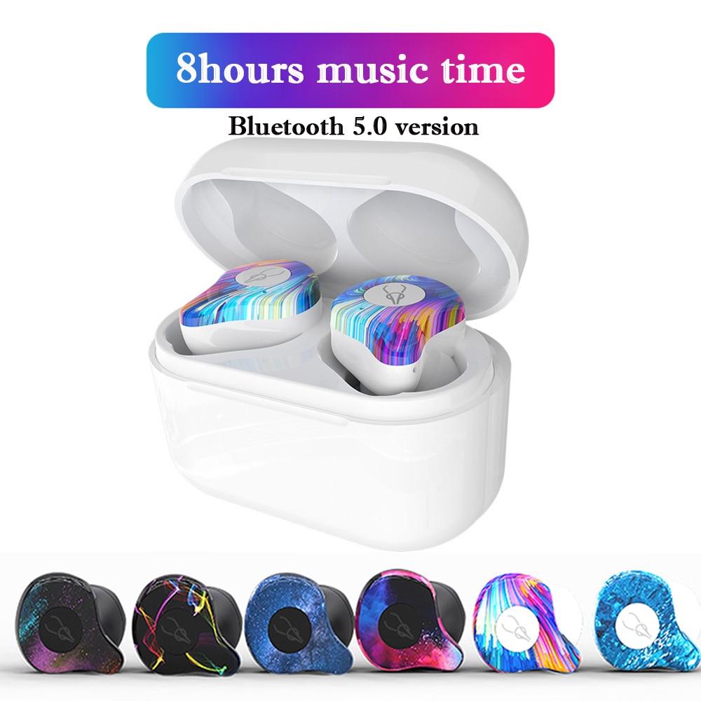 D'origine Sabbat Bluetooth 5.0 Bluetooth sans fil écouteurs casque sans fil bruit annulation écouteur réel son stéréo pour téléphone