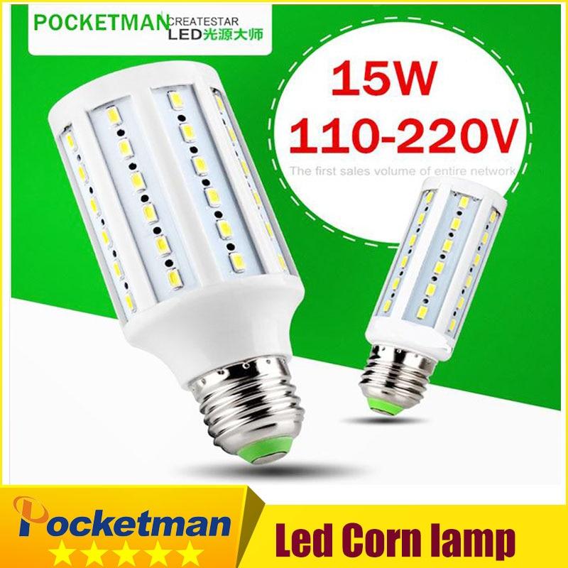 1pcs Led Corn Light Lamp Warm/cold White White 15w Replace 150w Halogen Lamp E27 60 5730 Smd 1500lm Led Corn Bulb 220v/110v Light Bulbs Lights & Lighting