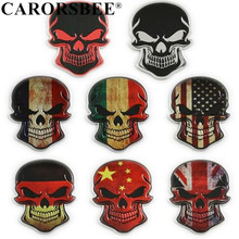 CARORSBEE Aluminum Germany Italy ENGLAND France USA National Flag Punisher skull Emblem Badge Car sticker Auto accessories Decal все цены