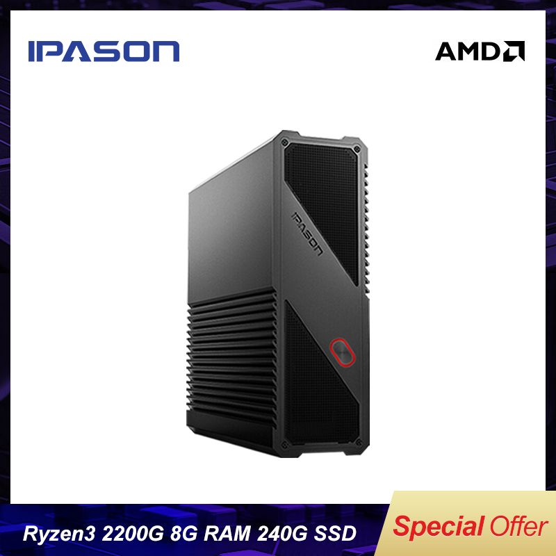Gaming Mini PC Computer AMD Ryzen3 2200G 8G 240G SSD Vega Dual-band WiFi (all Aluminum Body) Desktop PC