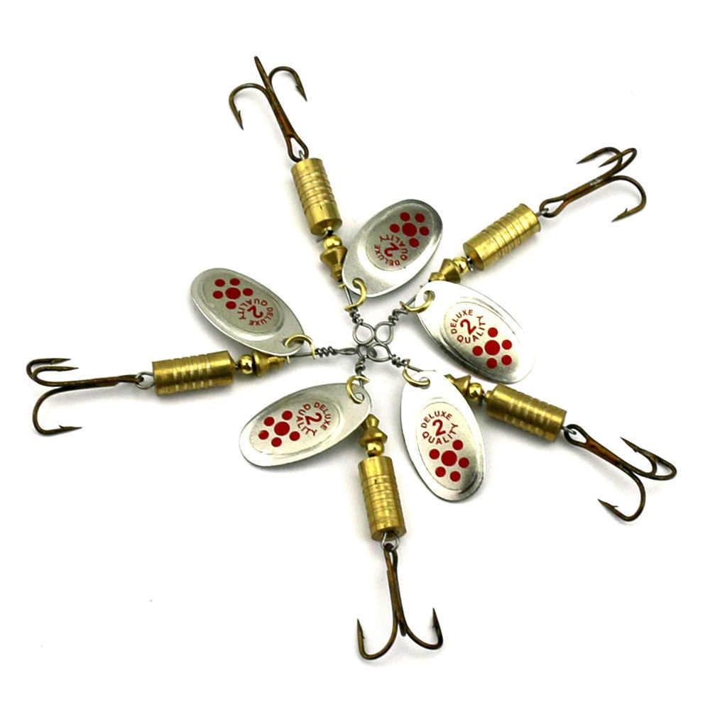 HENGJIA 10 pcs เหยื่อ Spinner 7.3g 6.7 ซม. เหยื่อตกปลาช้อน Paillette isca Spinner Lure pesca Bass Lure โลหะเลื่อมเหยื่อ