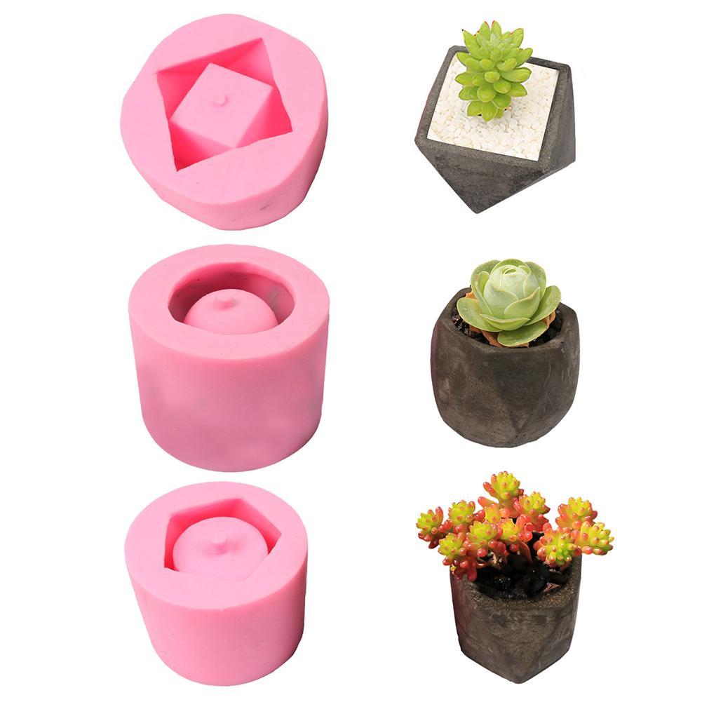 DIY Fleshy Flower Pot Silicone mold Garden decoration succulent plants Handmade concrete Cement Flower planter pot Clay Molds