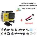 2016 горячие продажа Спорт действий видеокамеры 4 К 24fps УЛЬТРА HD 16MP DV камеры WiFi 2 inch Действие водонепроницаемая камера добавить монопод