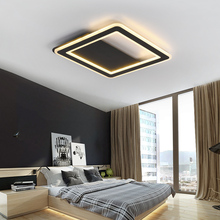 купить Squar Black/White Minimalist Modern led Ceiling Lights For Living room Bedroom led lamp home light Ceiling Lamp light fixtures по цене 6408.91 рублей