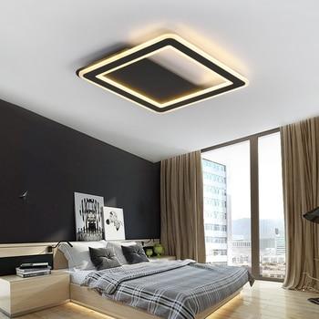 Squar Black/White Minimalist Modern led Ceiling Lights For Living room Bedroom led lamp home light Ceiling Lamp light fixtures