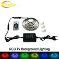 TV Background Lighting RGB LED Strip 5050 with 17Key RF Controller and Power Adapter 2.5m / 5m Set.