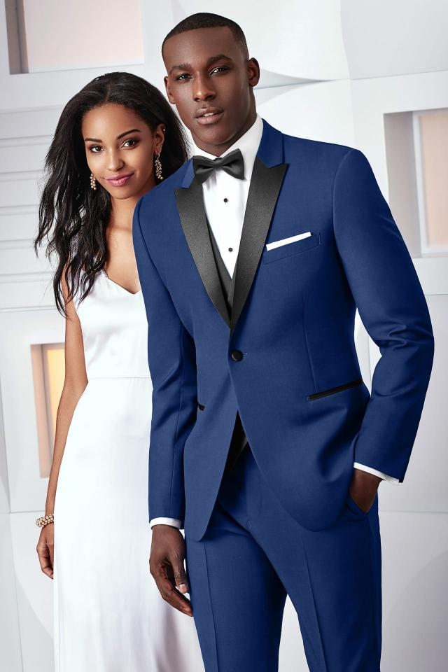 Custom Made wedding tuxedo royal blue men suits groom wear 3 piece ...