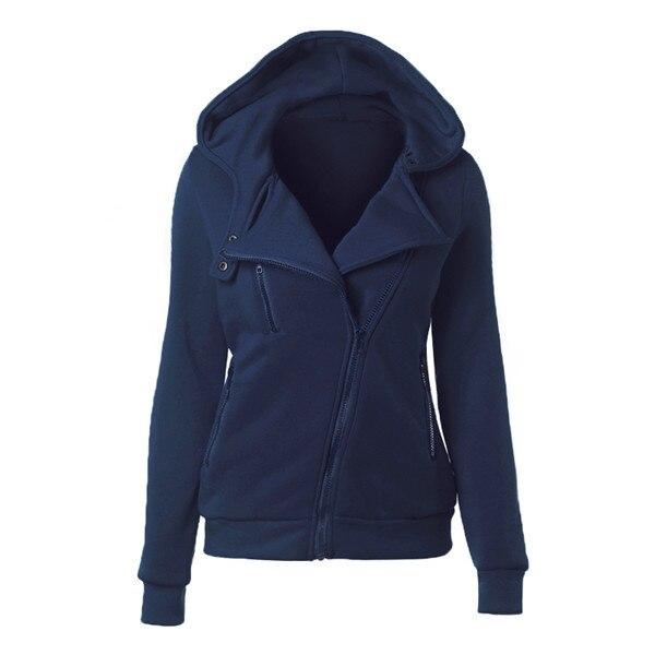 OLGITUM HIGH QUALITY Cotton Jacket Long Sleeve Fashion Spring Hoodies Autumn Women Zipper Casaco Feminino Coats SS012