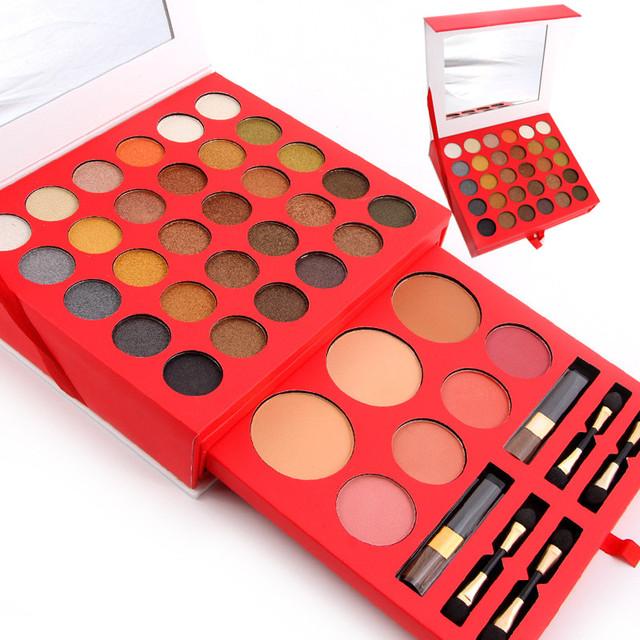 MISS ROSE Pro 60 Cores de Maquiagem Conjunto Paleta Fosco Sombra À Prova D' Água Sobrancelha Pó Blush Palette Cosméticos Kit Maquiagem