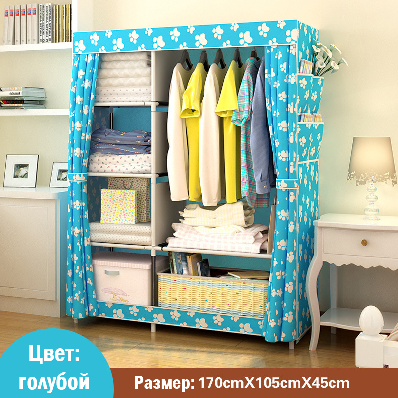 Image 2 - When The Quarter Wardrobe DIY Non woven Fold Portable Storage Cabinet Multifunction Dustproof Moistureproof Closet-in Wardrobes from Furniture