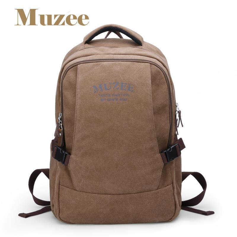 Muzee vászon hátizsák vintage vászon laptop férfi hátizsák - Hátizsákok