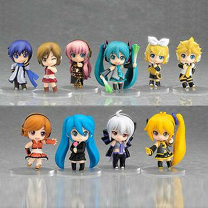 10 pcs/set Nendoroid Petit Vocaloid figure Good Smile Hatsune Miku Action Figures Toy for girls best gift