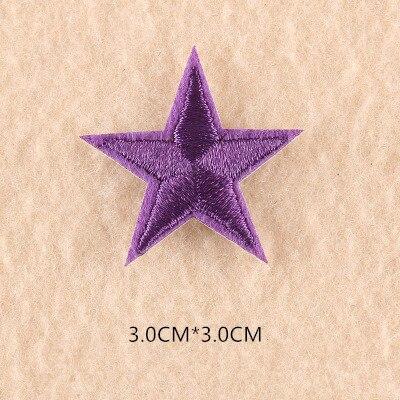 1 шт. смешанные нашивки со звездами для одежды, железная вышитая аппликация, милая нашивка эмблема на ткани, одежда, аксессуары для одежды DIY 61 - Цвет: 61Y