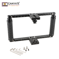CAMVATE Adjustable Cage with QR Hot Shoe Adapter (Battery Grip) C1808 camera photography accessories
