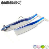 Hunthouse black minnow eel jigging lure leurre souple silicone lure 5g 12g 25g jig head fishing lure soft pike seabass lure bass