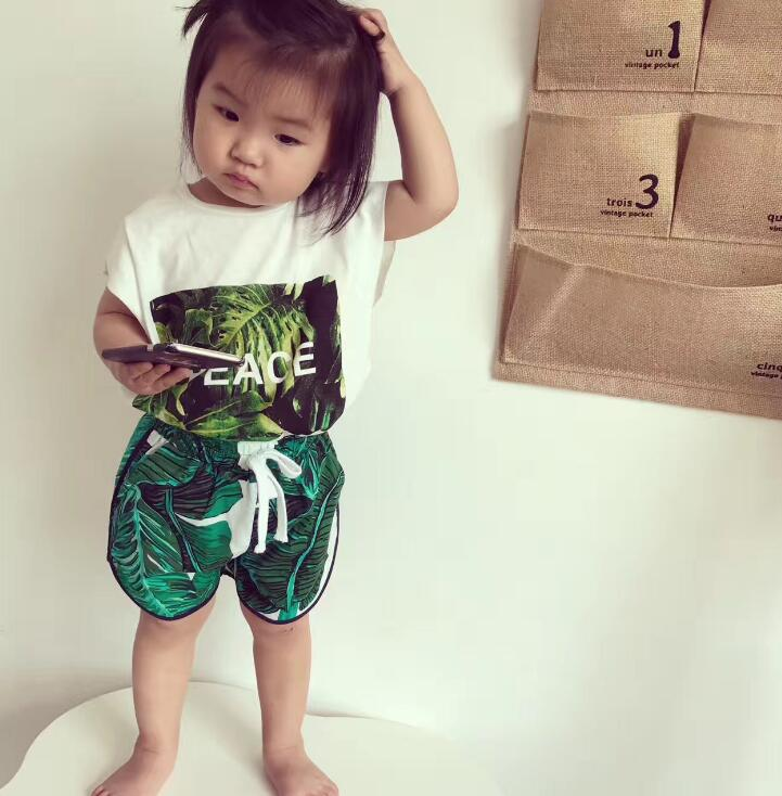 s Clothes 2018 Summer Baby Girls Clothes Set T-shirt+Pants Outfits Baby Girls Sport Suit Infant Clothing Sets