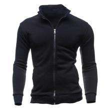 Men Casual Sportswear Zipper Long-sleeved Sweatshirt Coat Jacket