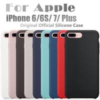 Original Have LOGO For Apple Liquid Silicone Case For IPhone 7 7Plus 6S Plus Phone Back